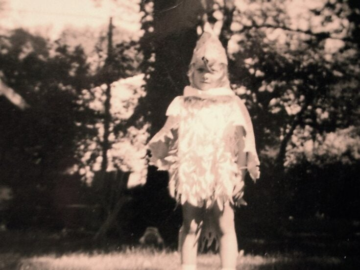 The photo that shaped me: Lucy Ellmann on her childhood bird costume