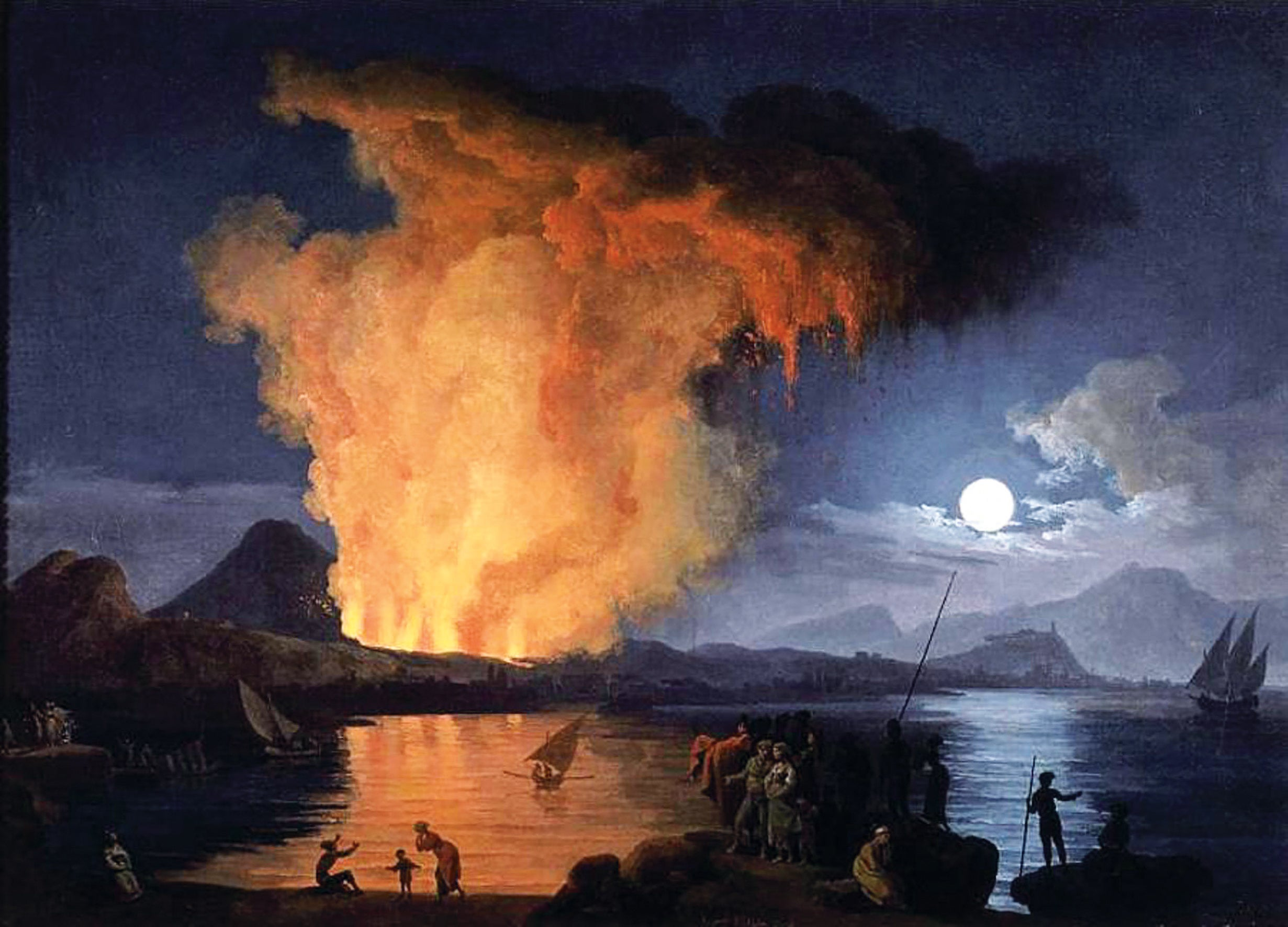 How Pierre-Jacques Volaire perched his viewers on the rim of Vesuvius