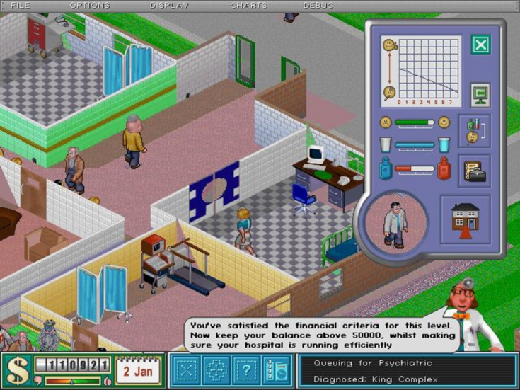Theme Hospital: how a game inspired by NHS managers turned into an epidemic success