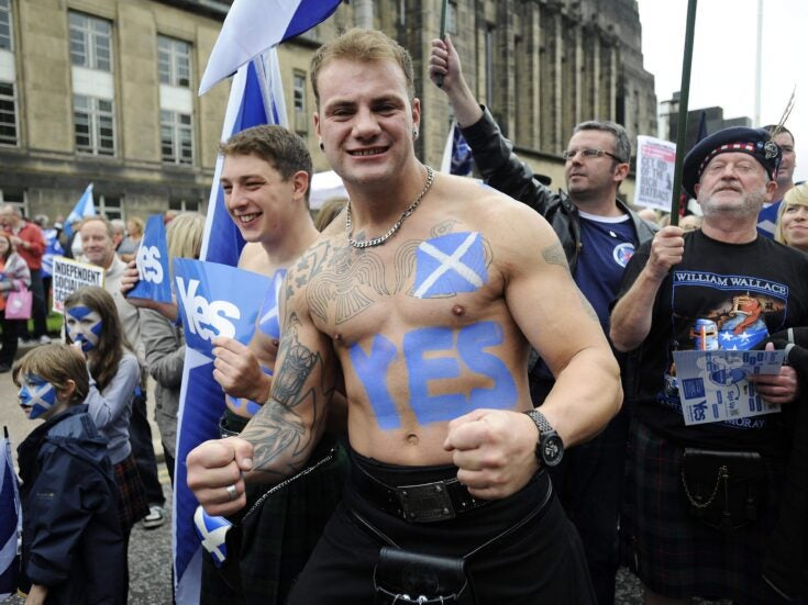 The polls are narrowing, the nationalists are on the march and Scotland is divided