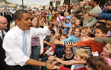 Obama riding high on the downturn?