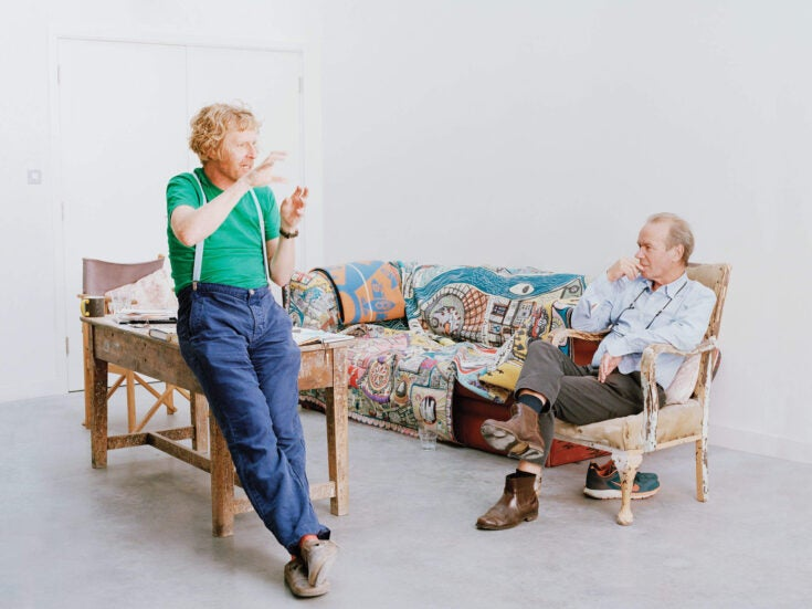 """Martin Amis talks to Grayson Perry: """"I think there is a difference between male and female writing"""""""