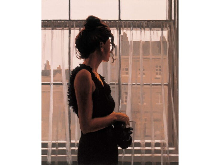 Jack Vettriano: standing in the shadows of love
