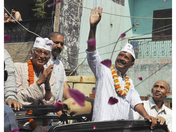Taxman with the common touch: Arvind Kejriwal of India's Aam Aadmi Party