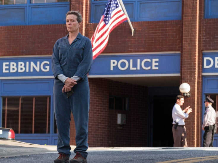 Three Billboards Outside Ebbing, Missouri is homely yet violent – a greetings card spattered with gore