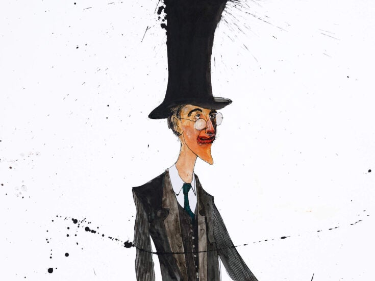 Jacob Rees-Mogg shows just how much the British love a caricature