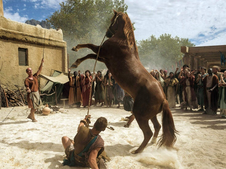 In Troy: Fall of a City, all the men look as if they're in a Calvin Klein ad