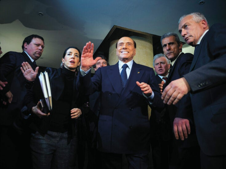 Italy's salvation will not come with a sleek and smarmy redeemer like Berlusconi