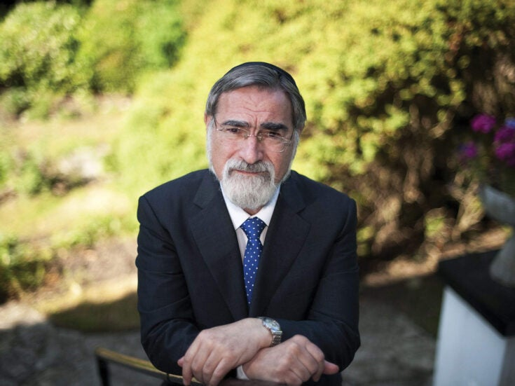 """Rabbi Jonathan Sacks: """"The hate that begins with Jews never ends with Jews"""""""