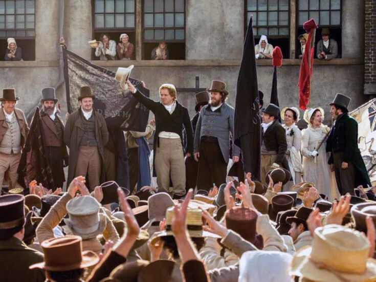 Something has gone badly wrong in Mike Leigh's dull film Peterloo