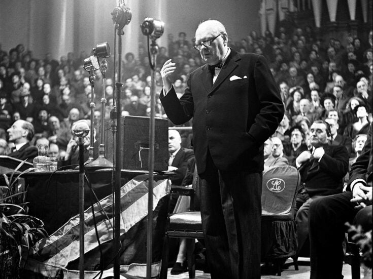 How Winston Churchill used his storytelling skills to shape his country's history