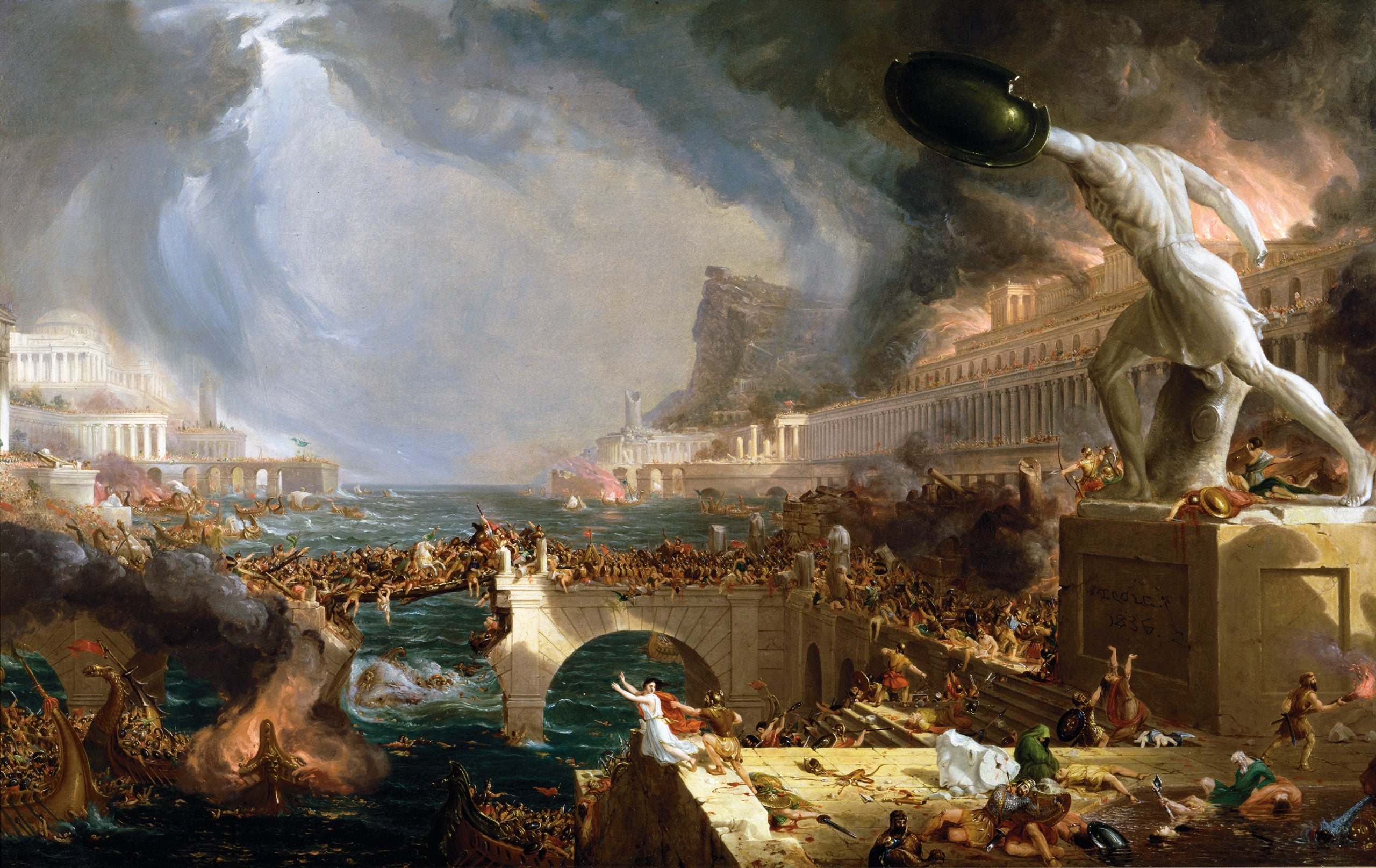 How pandemics extinguished the Roman empire