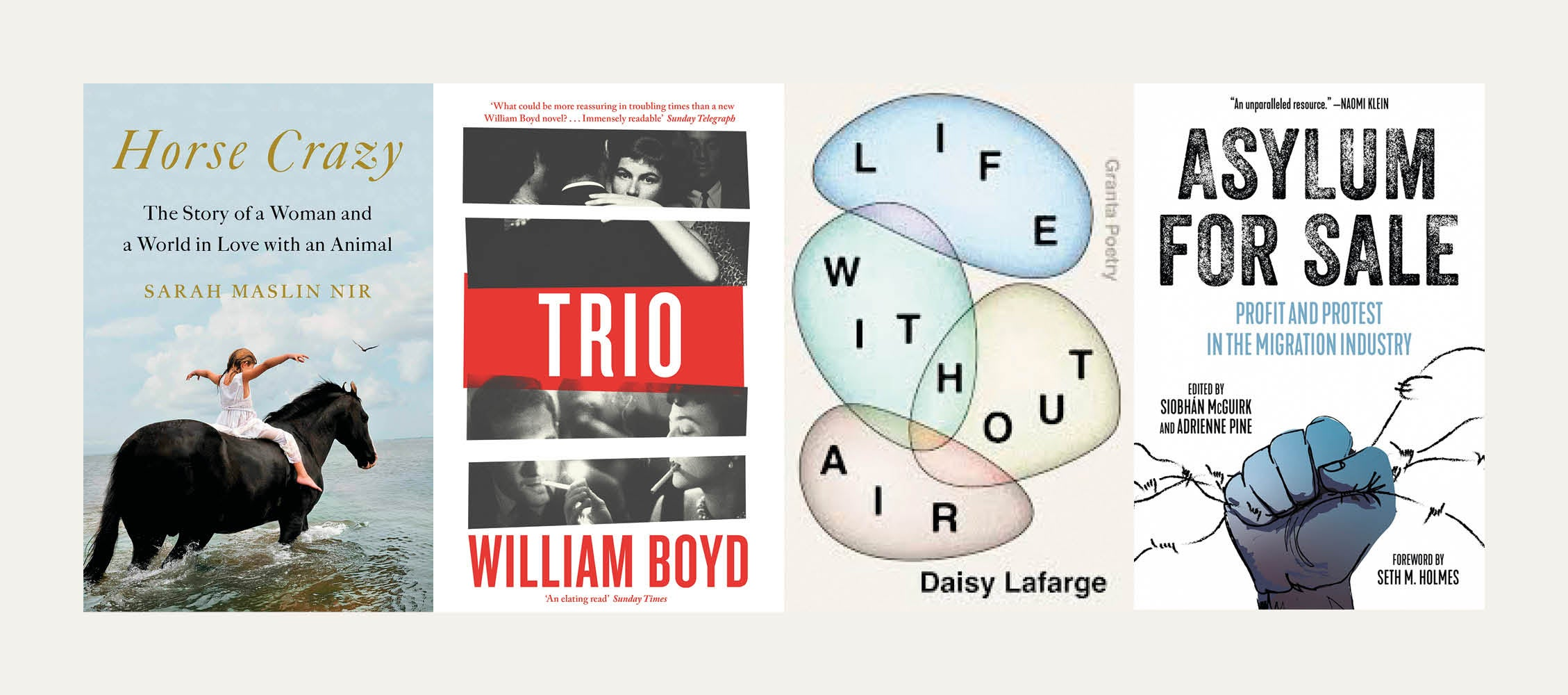 NS Recommends: New books from William Boyd, Sarah Maslin Nir, Daisy Lafarge, Siobhán McGuirk and Adrienne Pine
