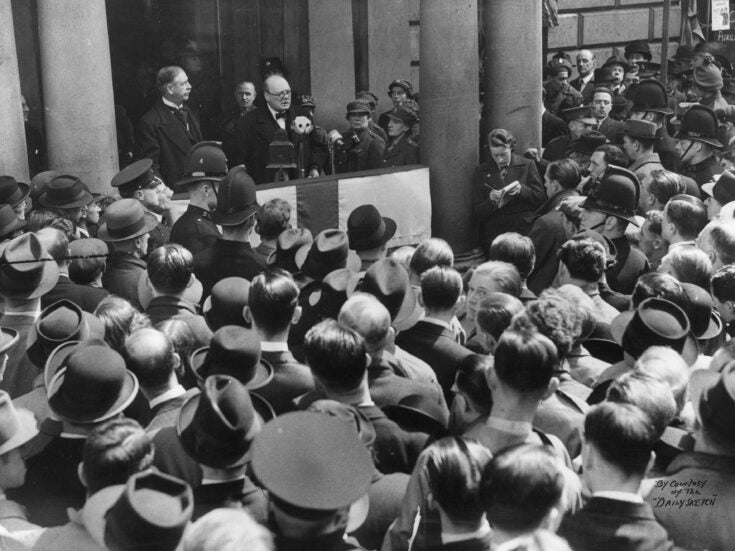 """Winston Churchill interviewed in 1939: """"The British people would rather go down fighting"""""""