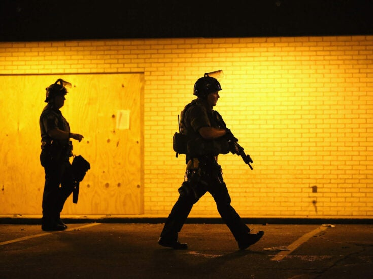 Britain should not look at the militarised police in Ferguson and congratulate itself
