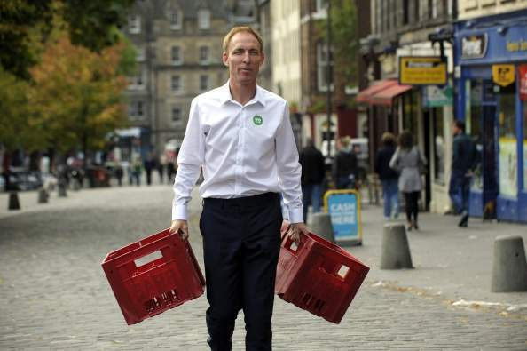 Jim Murphy: on the road in Scotland for the No campaign