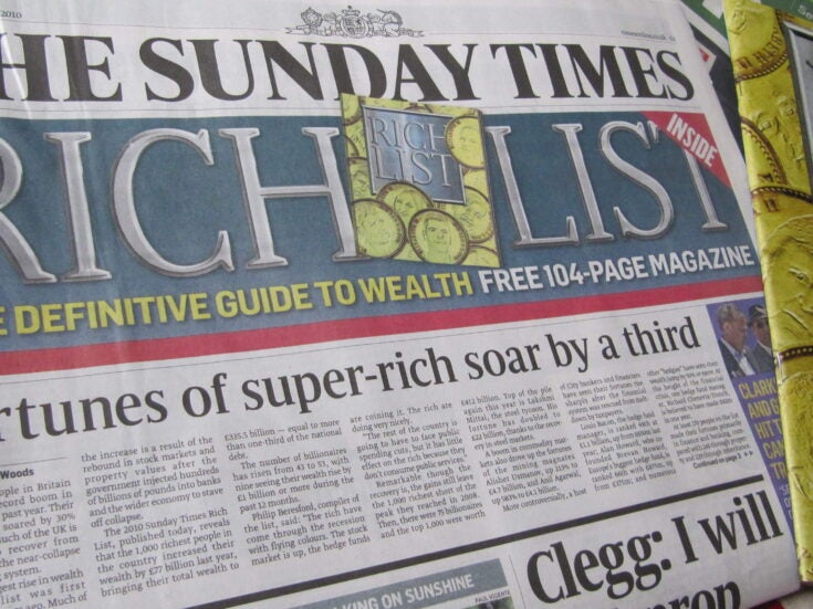 The truth behind the Sunday Times annual Rich List