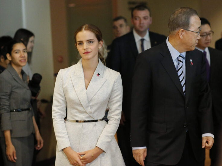 Emma Watson calls on boys and men to join the feminist movement