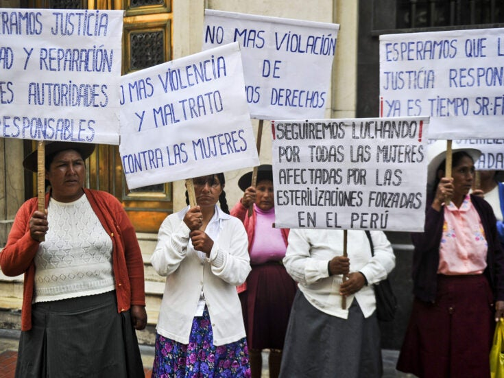 The artistic campaign to help 300,000 Peruvian women sterilised against their will