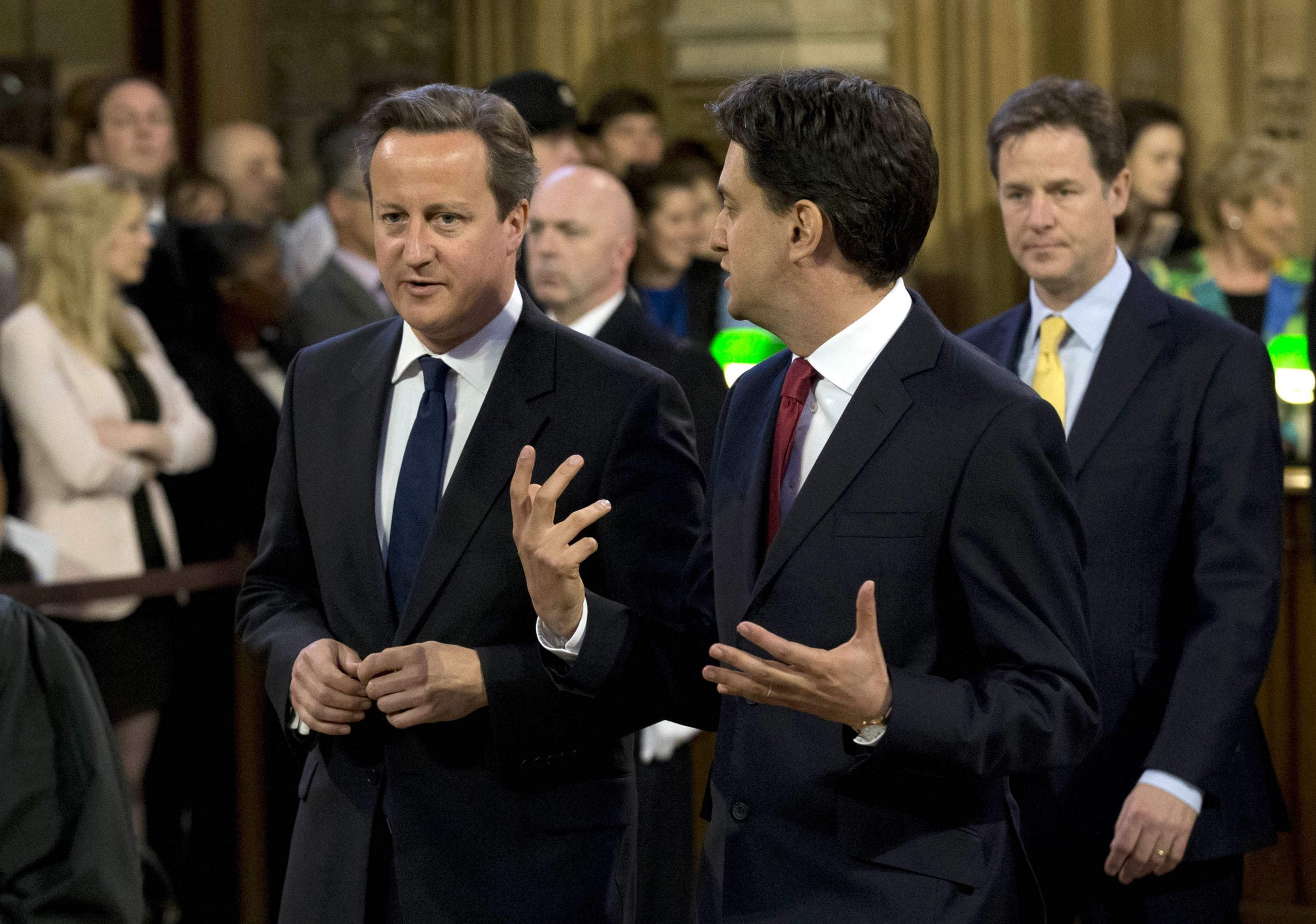 Cameron is nearly twice as personally popular as Miliband