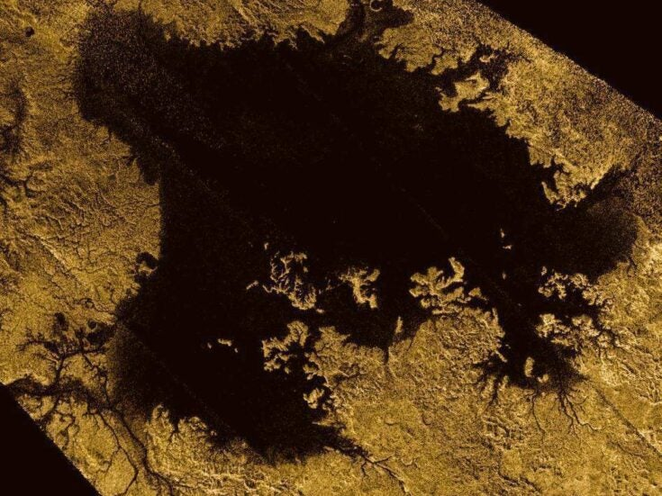 An island appeared in a lake on a moon around Saturn, then disappeared