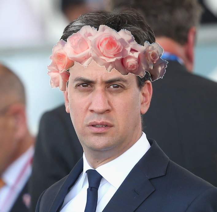 Election 2015 Style: Flower Power Ed uses his head