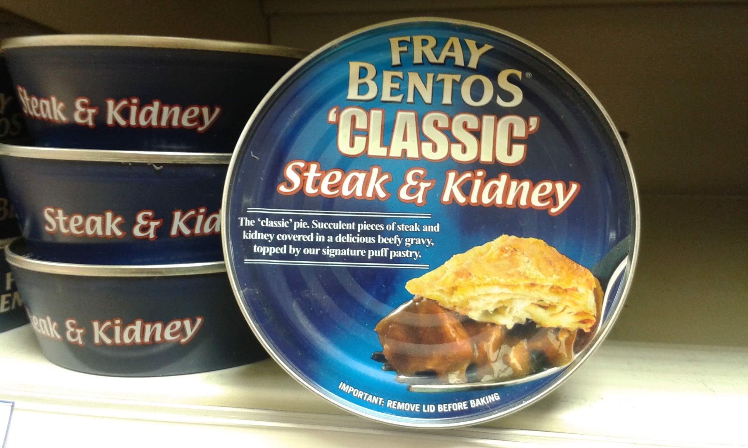My quest for an elusive can of juicy Fray Bentos steak and kidney pie ends with a Dolmio pasta sauce
