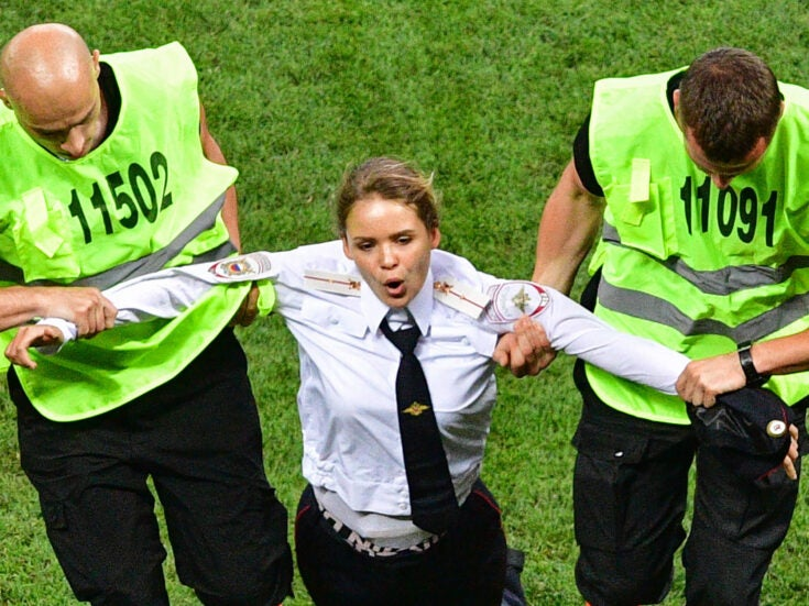 Pussy Riot's World Cup pitch invasion pierced the fog of unreality around Putin's Russia