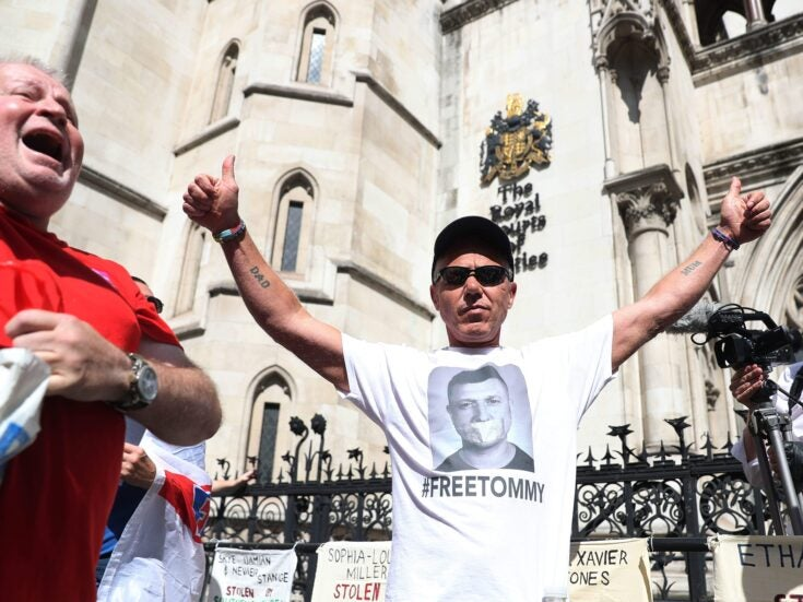 Tommy Robinson's supporters outside court today aren't the ones to be scared of