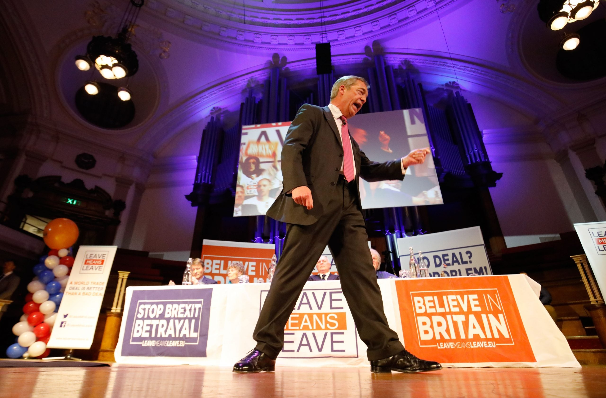 Nigel Farage is absolutely, definitely going to walk from Sunderland to London, honest