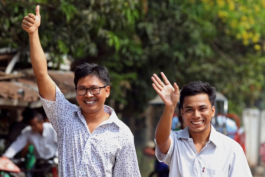 Wa Lone and Kyaw Soe Oo are free, but their pardon leaves Myanmar's journalists fearful
