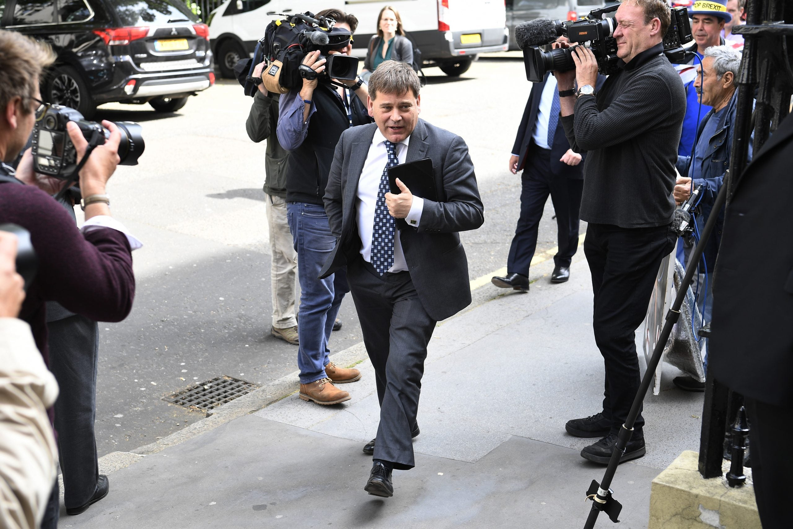 """Andrew Bridgen suggests Jacob Rees-Mogg would have been too """"clever"""" to die at Grenfell"""