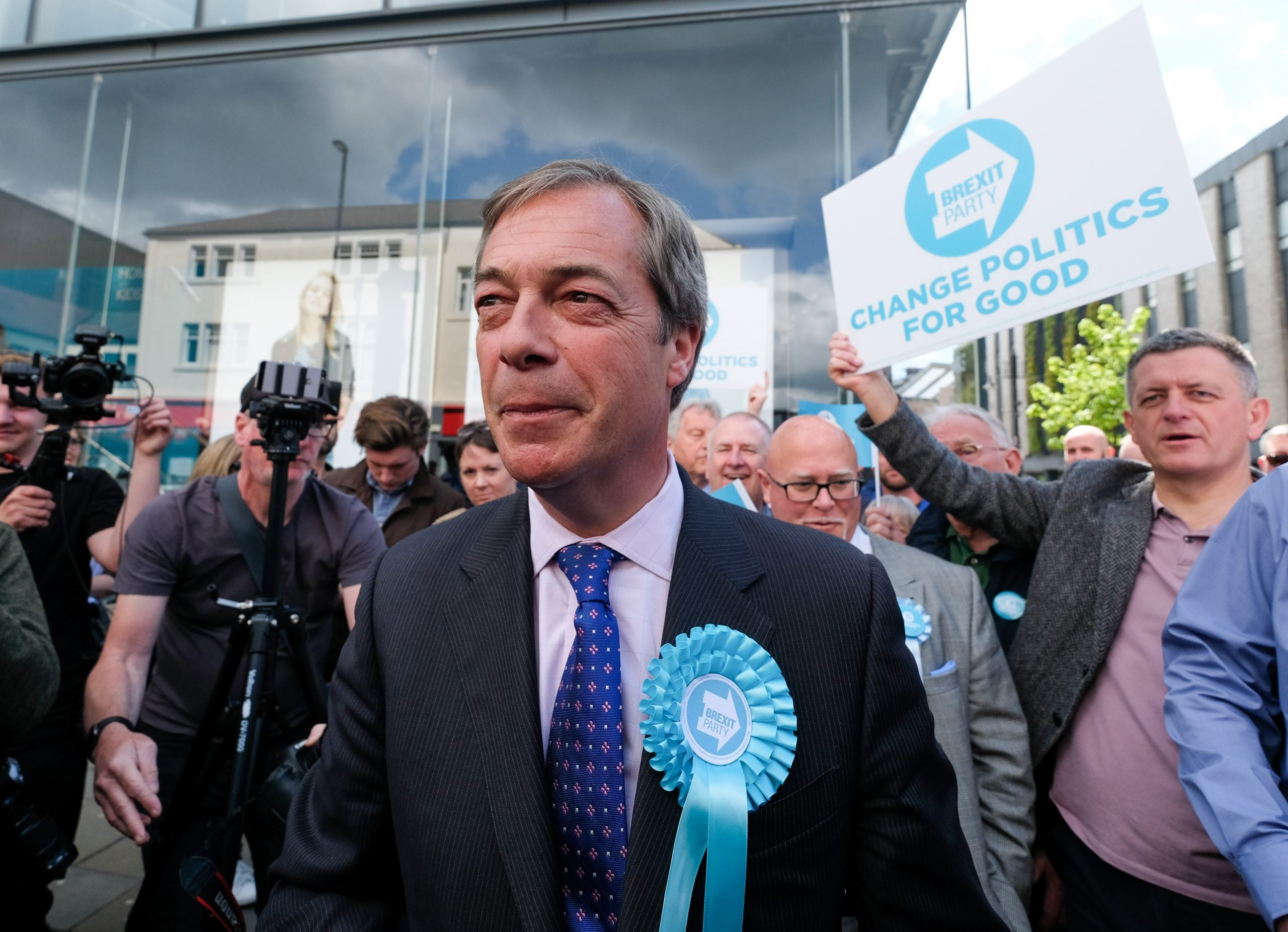 The Conservatives may see no-deal as their only chance of defeating Nigel Farage