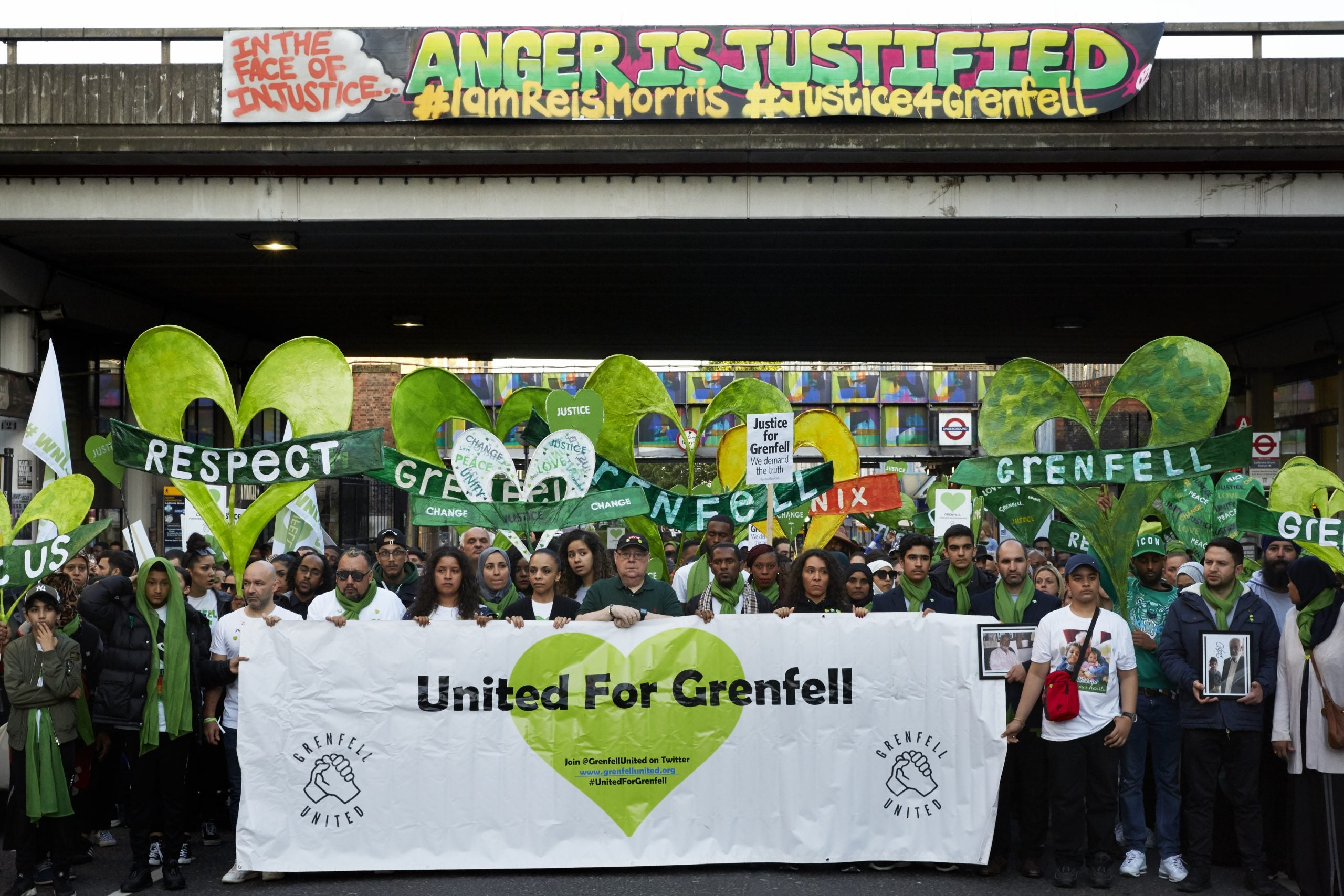 On a Grenfell walk, people want justice as much as commemoration