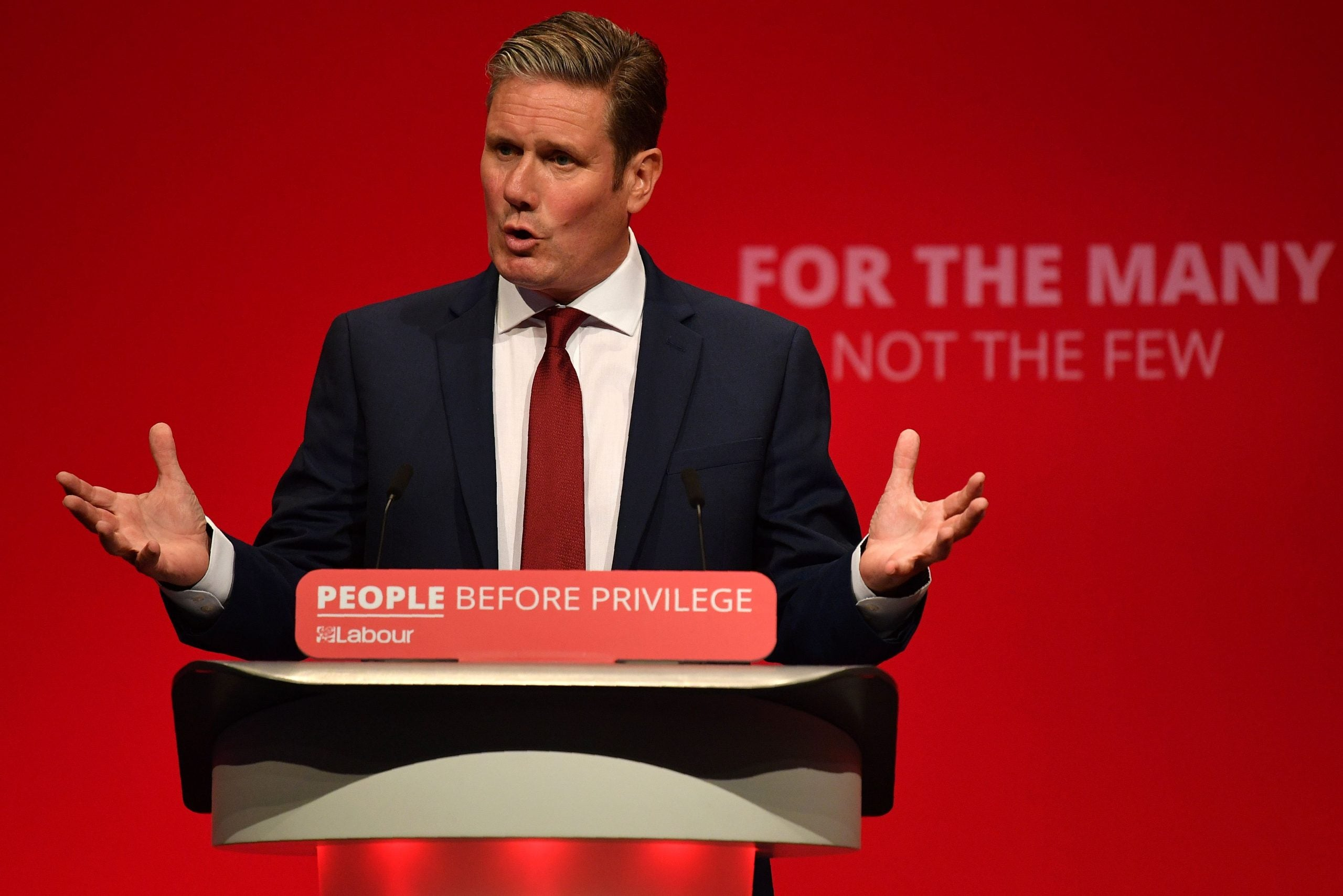 Keir Starmer turns left and makes his leadership pitch