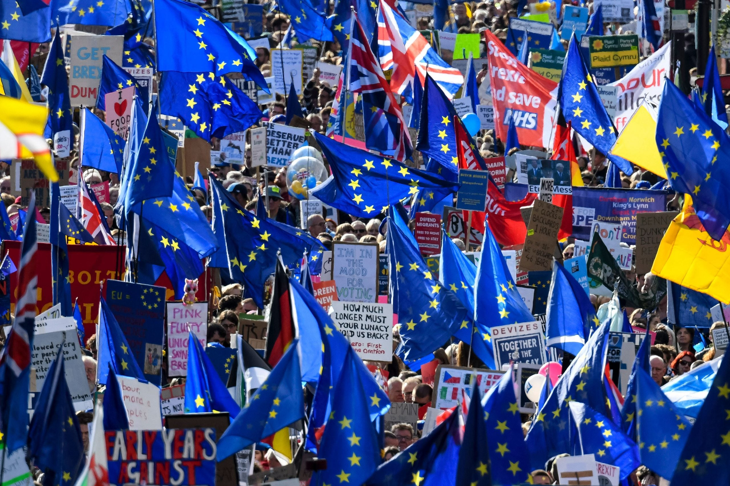 On the anti-Brexit march, I begin to think this kind of protest is a bit too mild