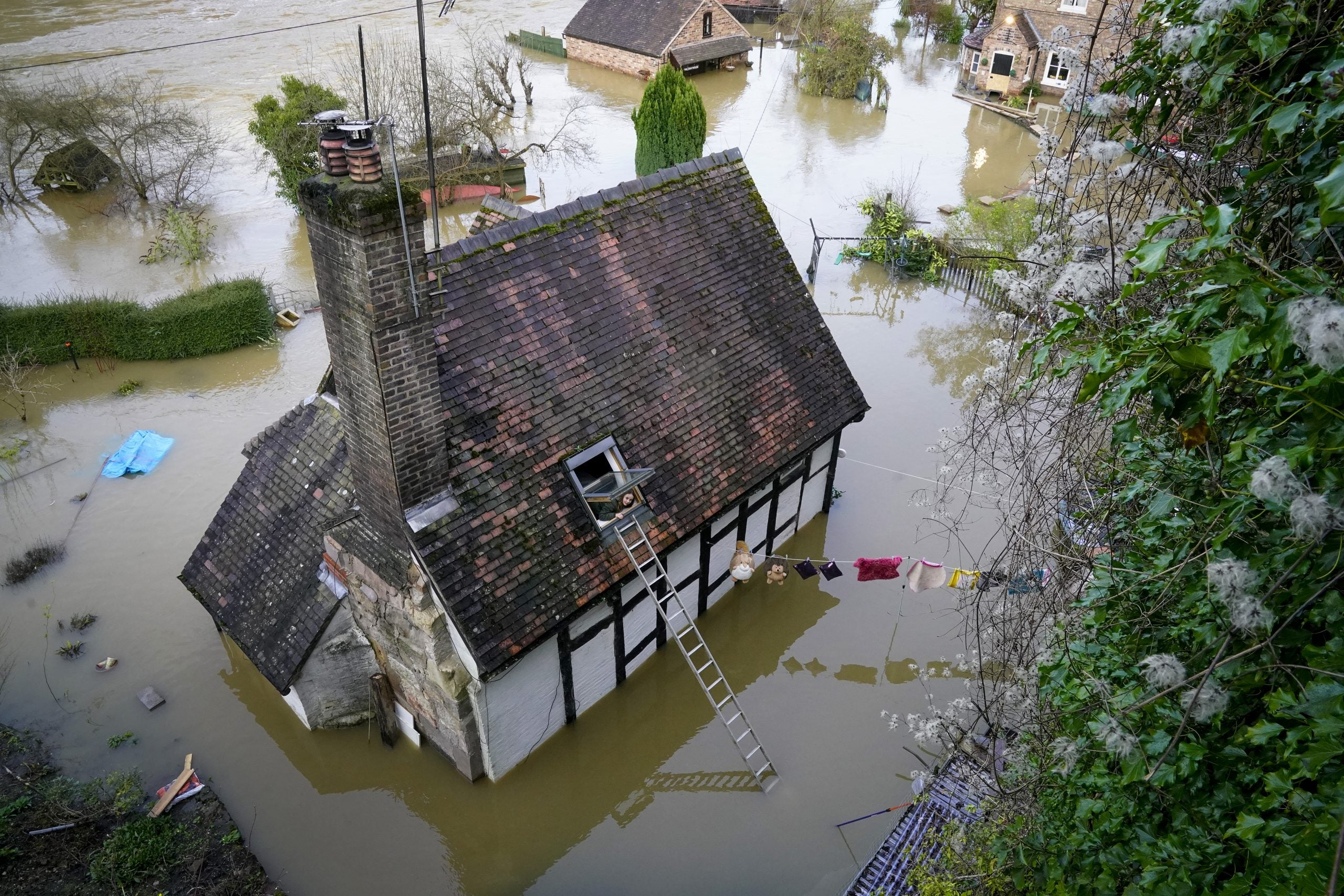 """""""The back of the house was two foot under"""": how Ironbridge's residents are coping with the floods"""