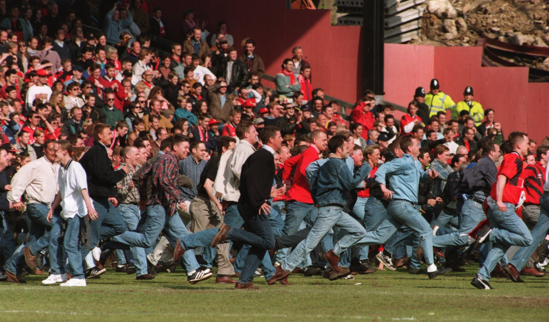 I miss the days when a good old-fashioned pitch invasion marked the end of the football season