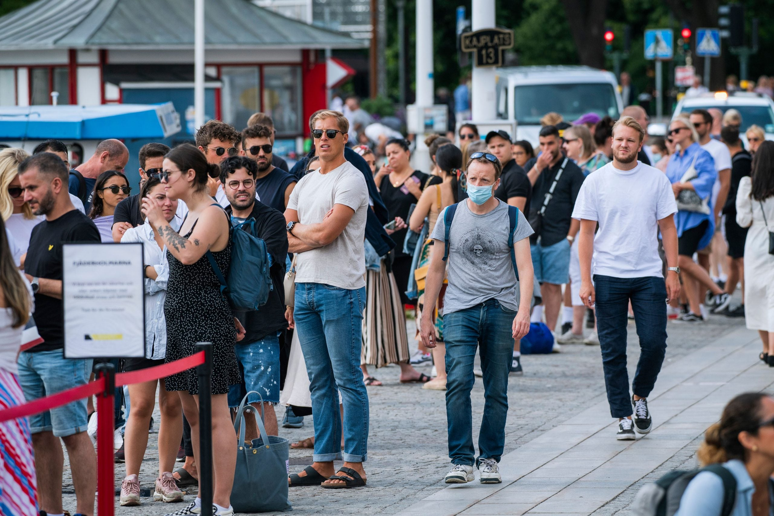 Masks are rare in Stockholm as residents debate the pros and cons of its non-lockdown