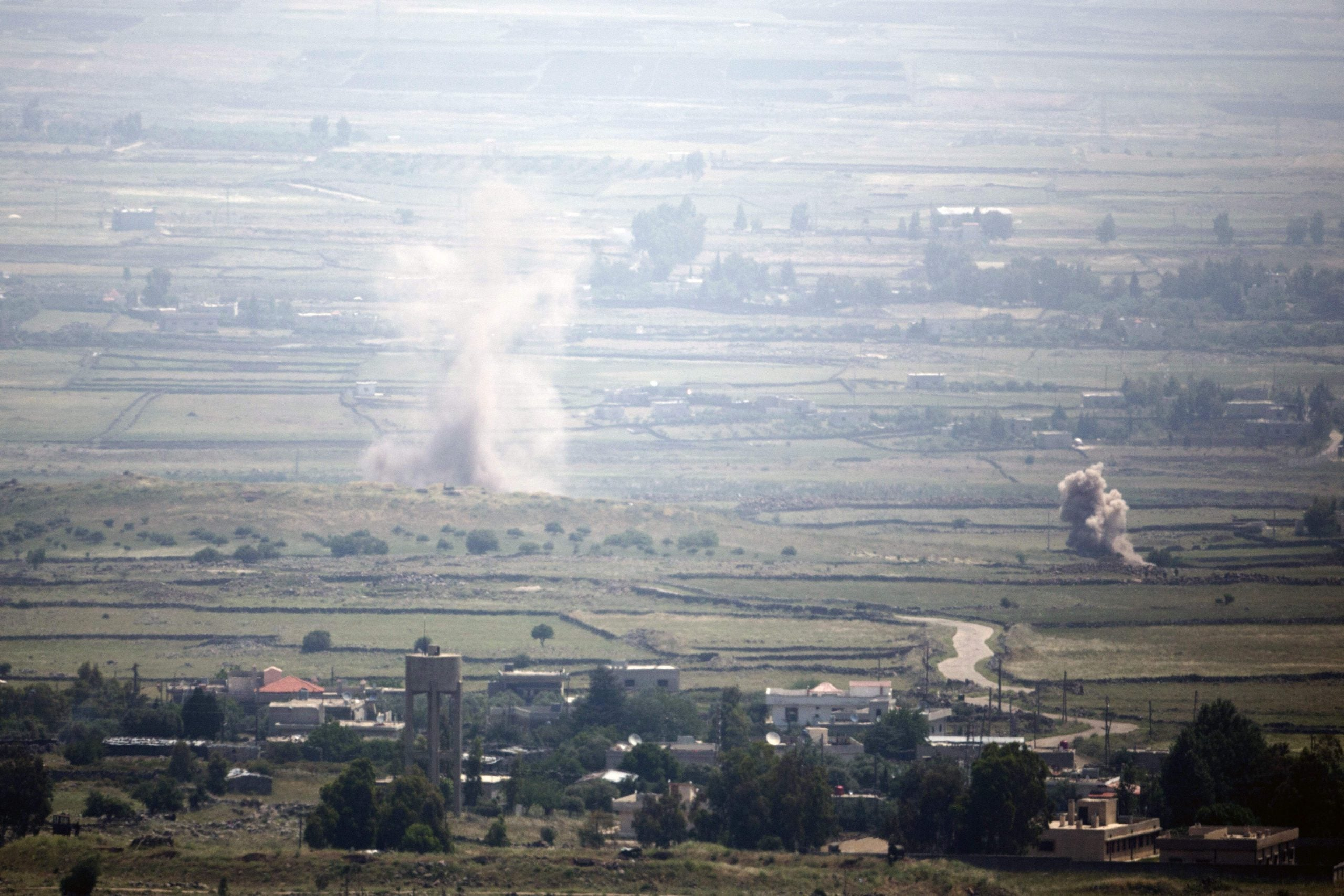 Listening to the guns from on high: a view from the Golan Heights