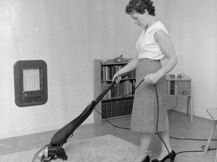 She's driven 475 miles to meet me, and quickly gets handy with my vacuum cleaner