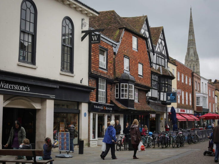 Seven hours to Salisbury, for shoe-shopping with the Welsh Enchantress