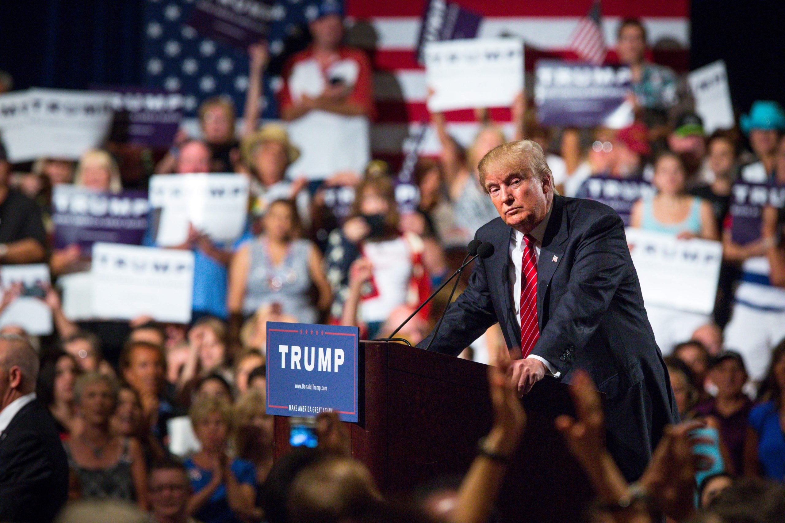 Following Donald Trump in New Hampshire