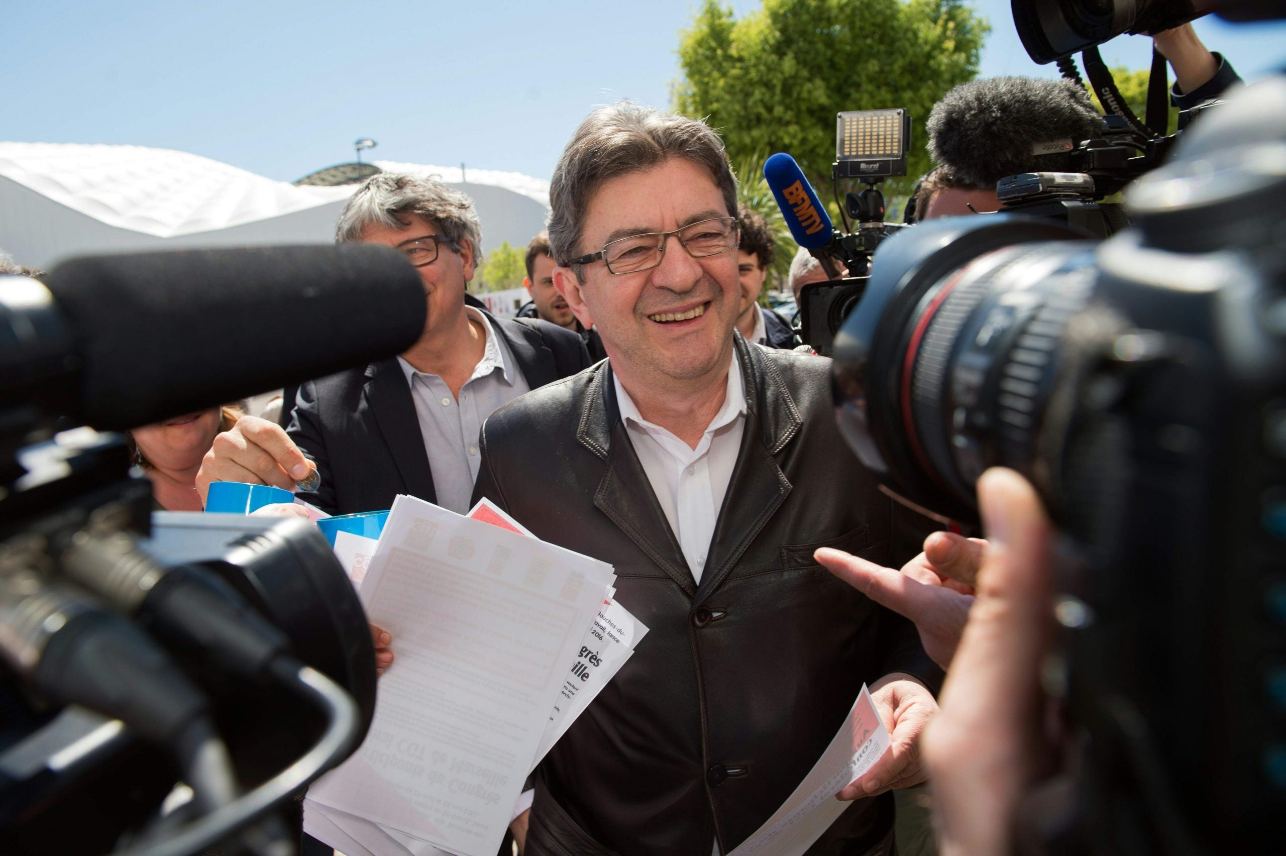 Meet Jean-Luc Mélenchon, the far left candidate gaining momentum in the French election