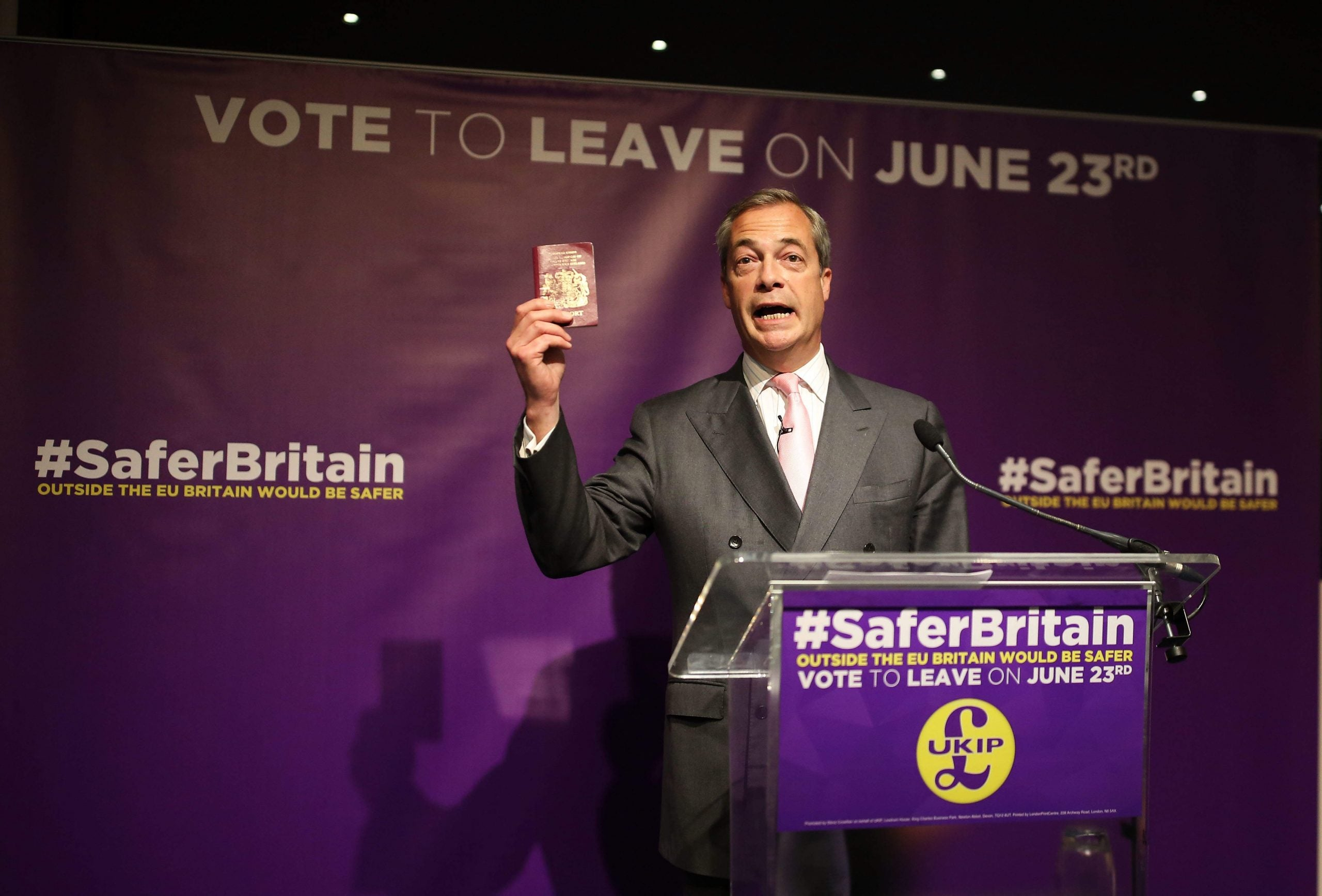 Vote Leave or be attacked: Nigel Farage finds a new low