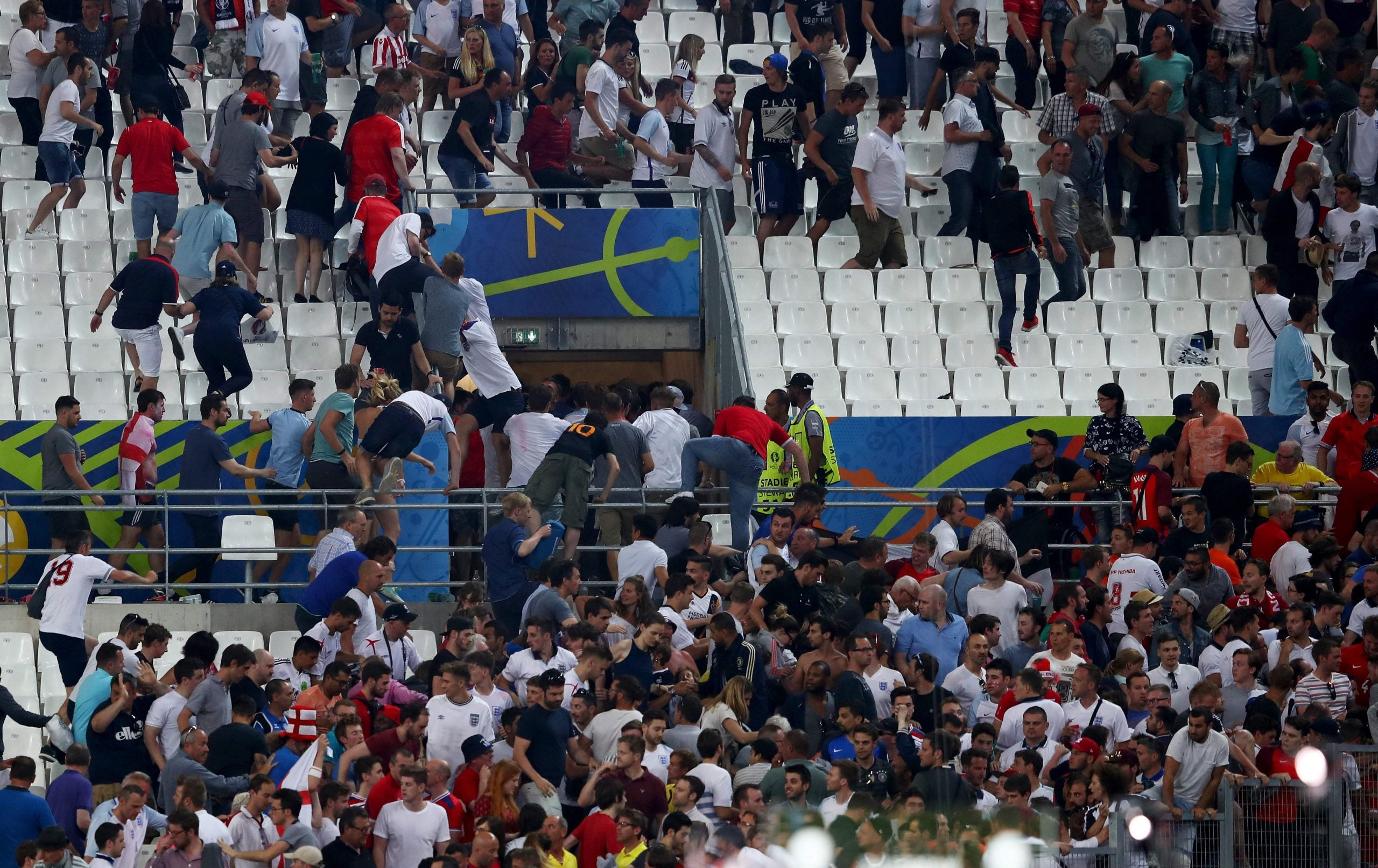 Blood on the streets: the charge of the hooligans at Euro 2016