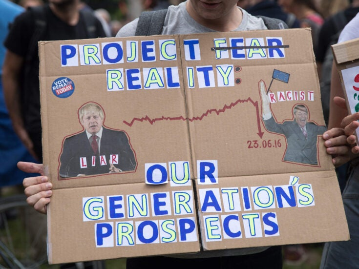Project Fear was already the reality for millennials. Brexit has made it Project Terrifying