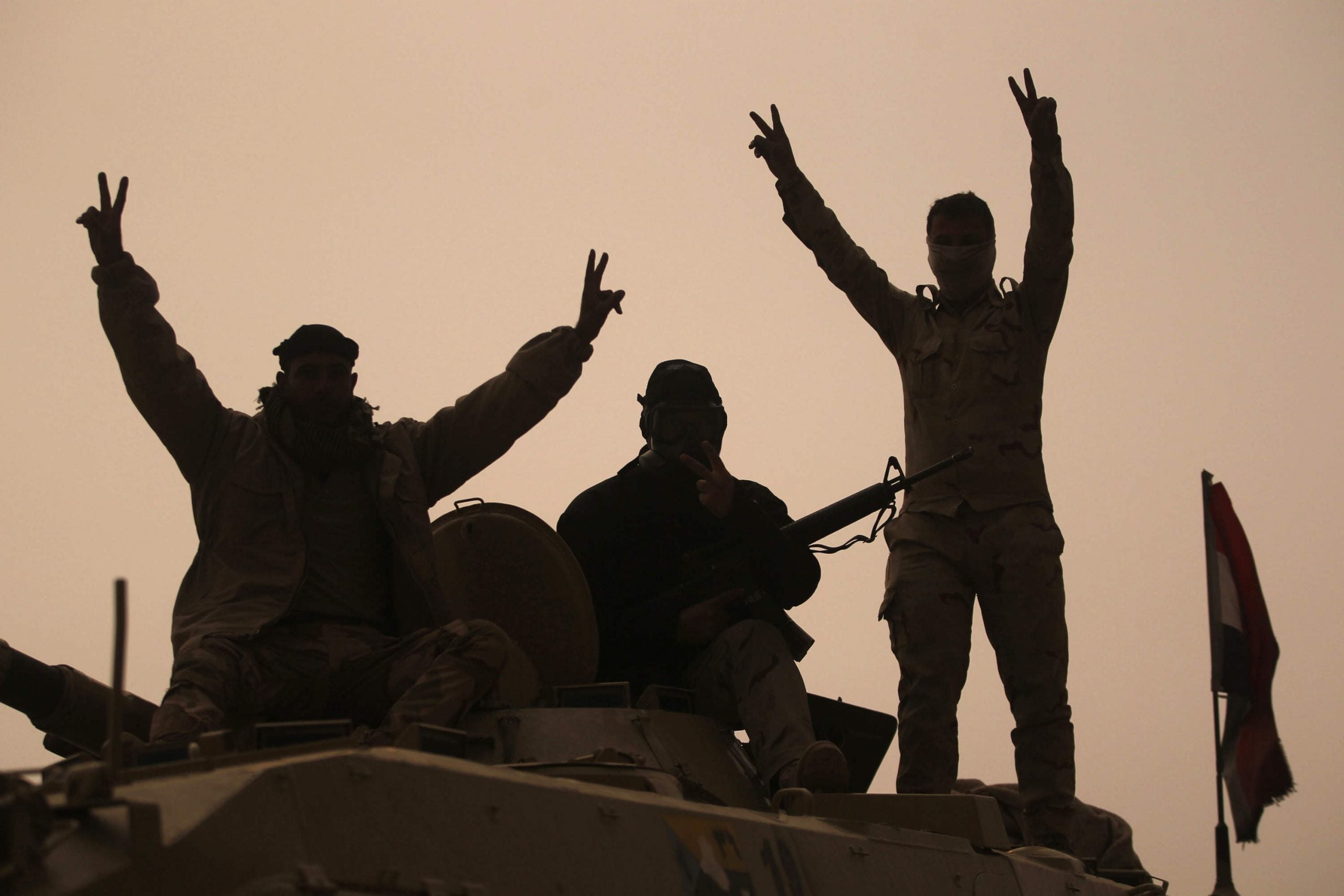 On the road with the Iraqi army in Mosul