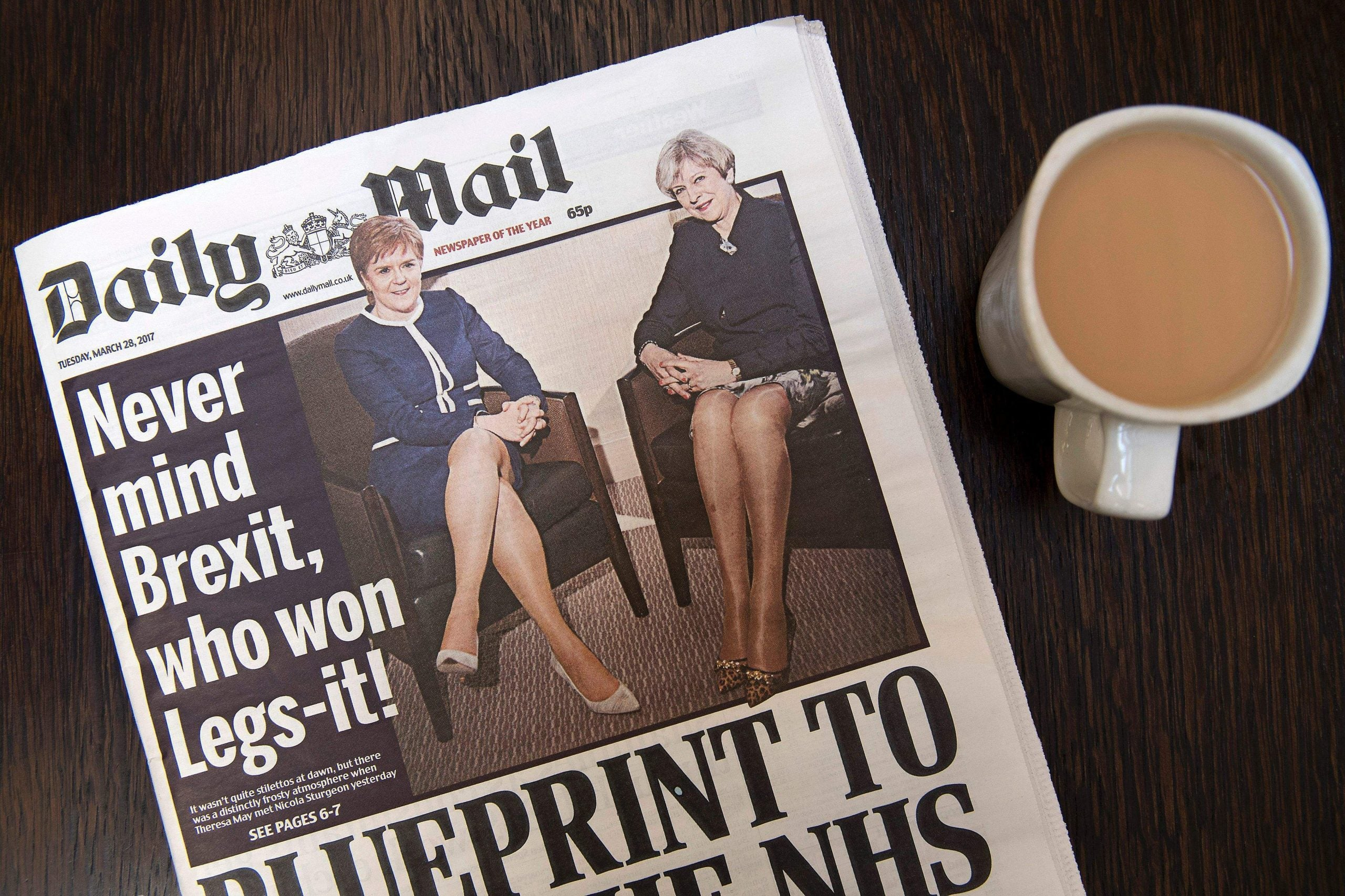 """The death of the scoop, the Mail's brilliant """"Legs-it"""" pun and the milkman returns"""