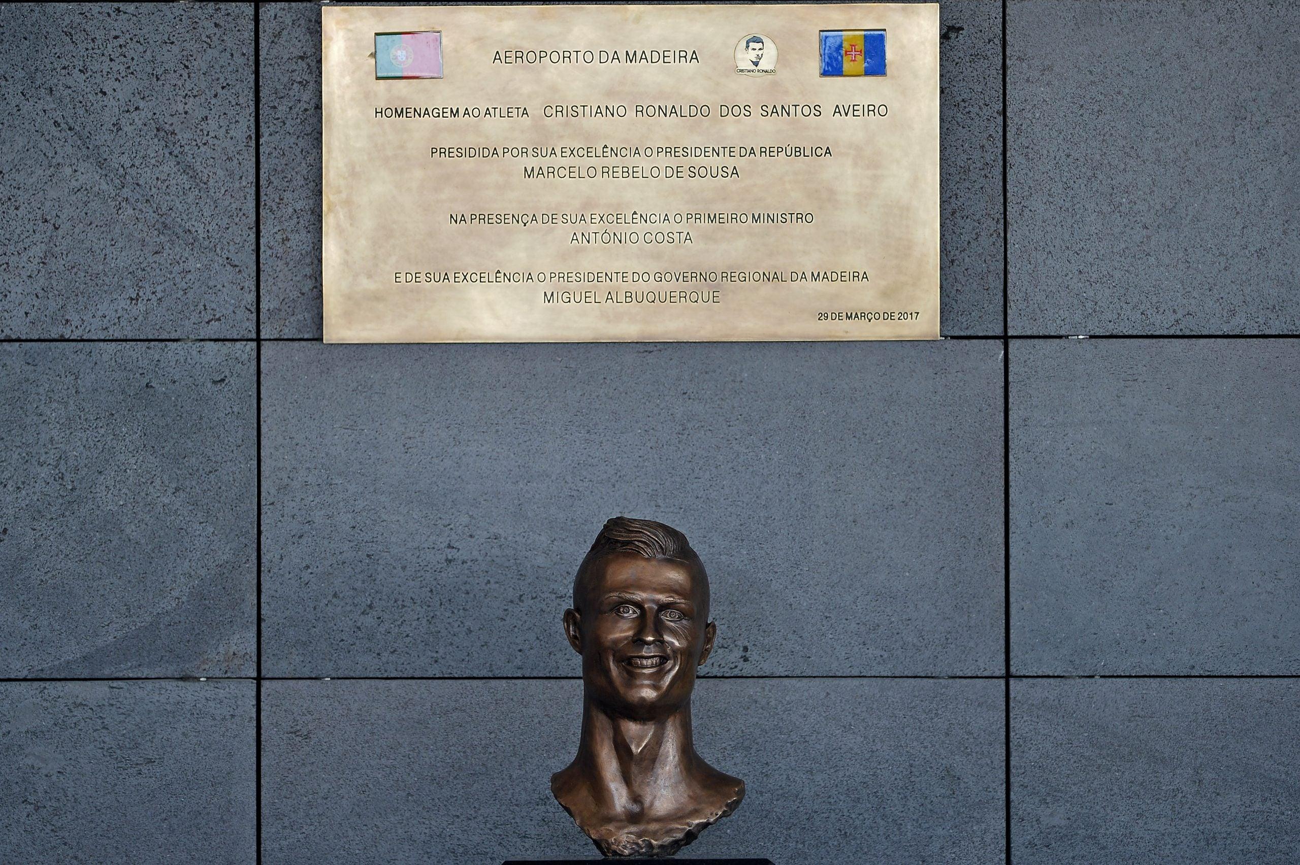 From Beckham to Ronaldo, it's a fact: statues of footballers always look like Dennis Waterman